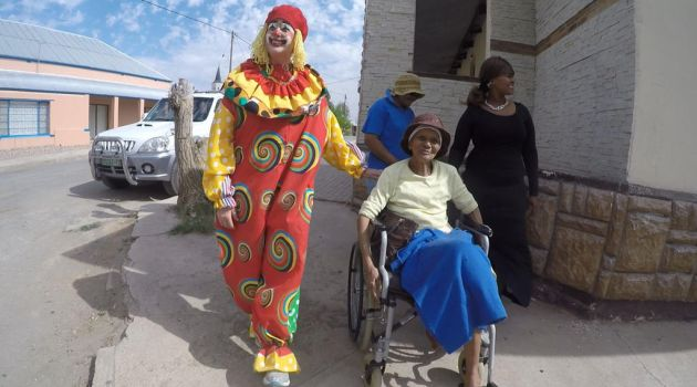 clown and grandmother by whabligone