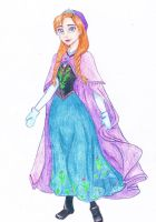 Princess Anna of Frozen Walt Disney by CHB-Diana