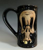 Worried Skull Mug- FOR SALE by thebigduluth