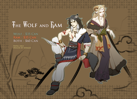 Wolf and Ram [CLOSED] by soda222