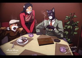 J. Blacksad in Thai Restaurant by Anupap