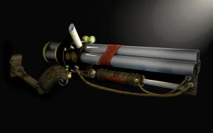 Steampunk Shotgun by XxdrummerxX