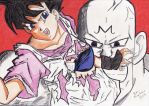 Videl vs Majin Spopovich by neo-sunglasses