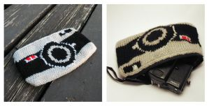 Knitted pencil-case ''Old Camera'' by baryshnikova
