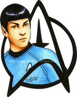 Spock in Copic by Queen-Uriel