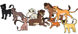 Tlk Fanfic Characters- Tilsa's Line art by Kainaa