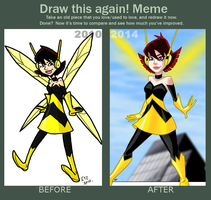 meme  before and after 2010-2014 Janet van Dyn by theEyZmaster