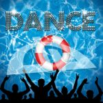 Dance poster lifebuoy pool party by bertold