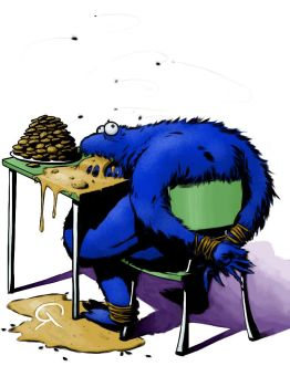 Gritty Reboot of Sesame Street: Cookie Monster by Scrybe