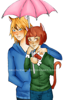 Art Trade: Felix and Ludolf by Raidu-chan