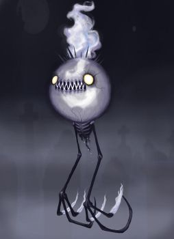 Creepy Chandelure COLORED by ClydeBob
