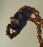 Autumn Forest Beaded  Pendant by tyshalae