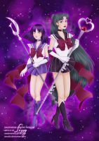 Sailor Pluto and Sailor Saturn by Annaliz