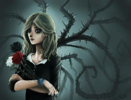 Girl with roses by Ludmila-Cera-Foce