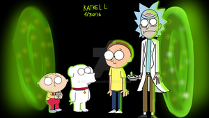 Brian and Stewie Meets Rick and Morty by XMarshmallowBunny99X