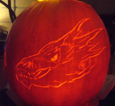The Hobbit Smaug Pumpkin by RebelATS
