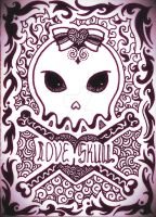 Love Skull Abstract Design by MilkySweets
