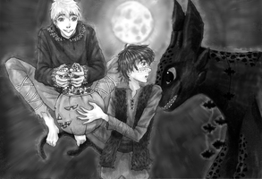 Hiccups and Jack's Halloween by Draconine
