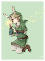 Link has Rabbit ear by sp415