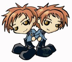 Ouran Twins chibis by Kasandra-Callalily
