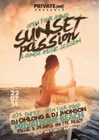 Sunset Passion Vol. 1 Flyer/Poster by Giunina