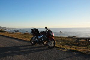 Motorcycle at the Coast by RayMackenzie