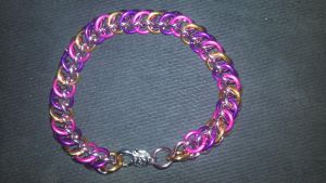MLP Themed Cadance Chainmail Bracelet-1 by TheGiantsnoll