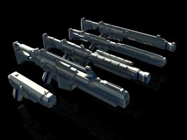 Sci-Fi Weapon Pack by 3DSauces