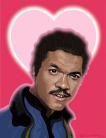 Star Wars Valentine's Day Card featuring Lando by McQuade