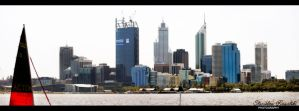 Perth CBD Midday by RaynePhotography