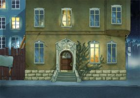 Animation background - House by MichaelVogt