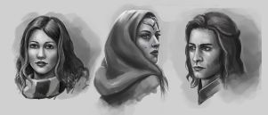 Portraites sketches by Lanfirka