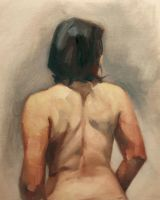 figure back in oil by Noe-Leyva