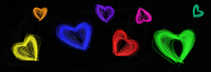 Glowing Hearts. by madzter13