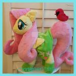 mlp plush commission FLUTTERSHY #2 this week by CINNAMON-STITCH