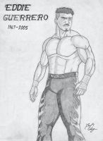 Eddie Guerrero Tribute Drawing by dsx100