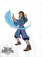 Movie Katara color by EndlessDestiny