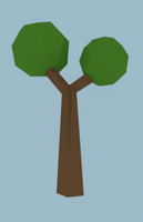 Low Poly Double Oak Tree by Zectric