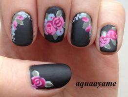 Floral 'n Black by aquaayame