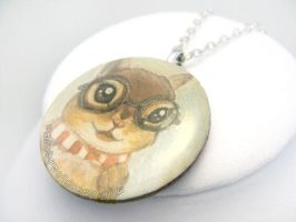 Nerdy Chipmunk Pendant Necklace / Sold by sobeyondthis