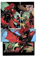 Batgirl 14 pg4 by syaf inks by curiel colors by Me by V3dd3rMan