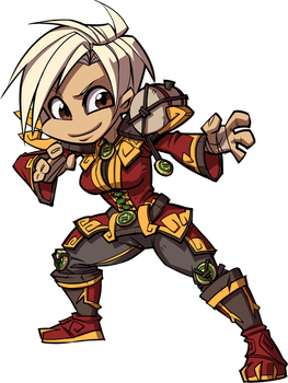 WoW Chibi - Monk by Zeon-in-a-tree
