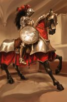 Photo Study 16 - Mounted Knight by Zeon1309