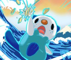 Oshawott ^_^ by skullanddog