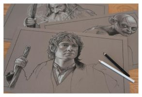 The Hobbit Part 3 - Pencil Study by jasonbrian007