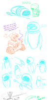 Random WALL-E Scribbles by gryphonworks