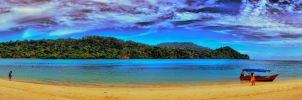 Panorama shot of Pantai Beras Basah, Indonesia by fighteden