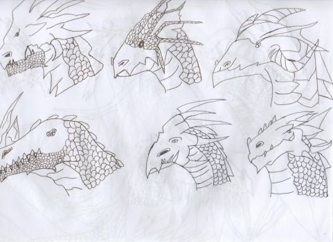 Dragon heads 2 by DragonLoverForever23