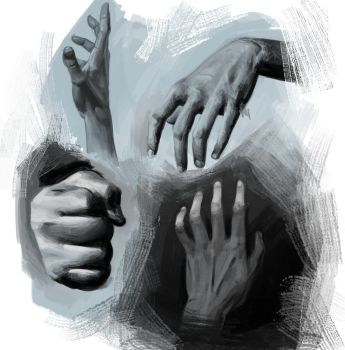 hand study by mehchall