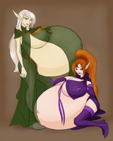 Rebekah and Sahri by RiddleAugust